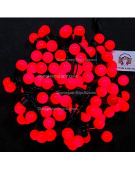 Светодиодная гирлянда Мультишарики d-18мм 10м цвет красный 100LED IP65 постоянное свечение
