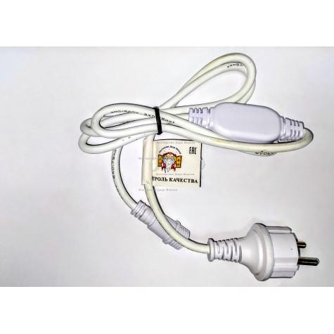 Шнур электропитания для гирлянд IP65 цвет белый