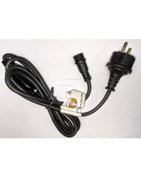 Шнур электропитания для гирлянд IP65 цвет черный