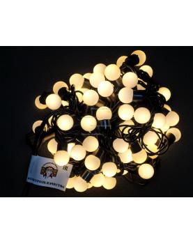 Светодиодная гирлянда Мультишарики d-18мм 10м цвет теплый белый