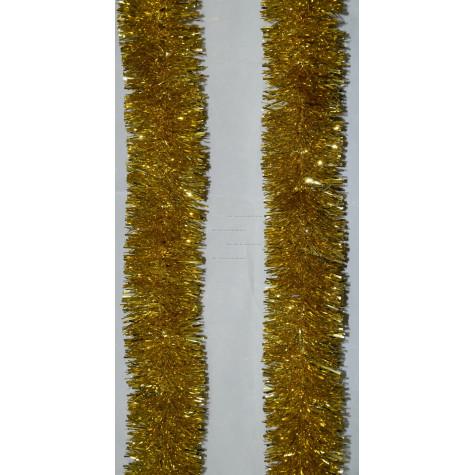 Мишура новогодняя Сибирская  диаметр 7 см цвет золото