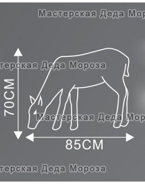 Световая Акриловая Фигура Олень мама цвет коричневый 70см
