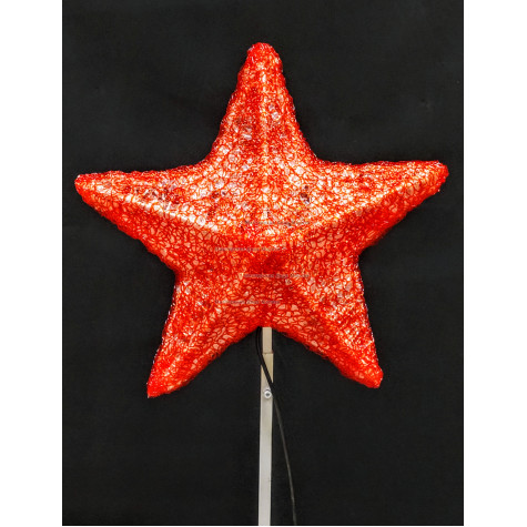 Макушка Звезда 80 см цвет красный