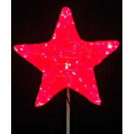 Макушка Звезда 30 см цвет красный