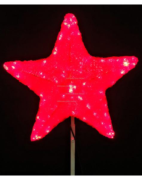 Макушка Звезда 50 см цвет красный