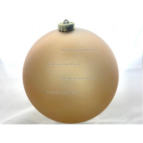 Шар d=15см цвет золотой матовый (1шт/уп)