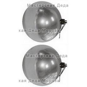 Шар d=10см цвет серебряный глянцевый