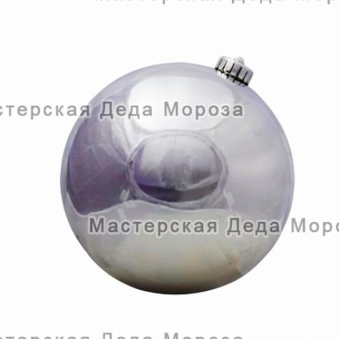 Шар d=25см цвет серебряный глянцевый