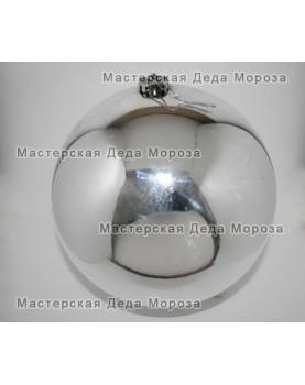 Шар d=20см цвет серебряный глянцевый