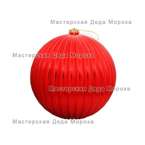 Шар d=20см цвет красный, рельефный