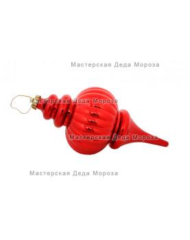 Сосулька рельефная цвет красный