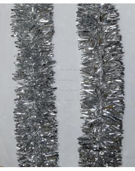 Мишура новогодняя Московская  диаметр 7 см цвет серебро