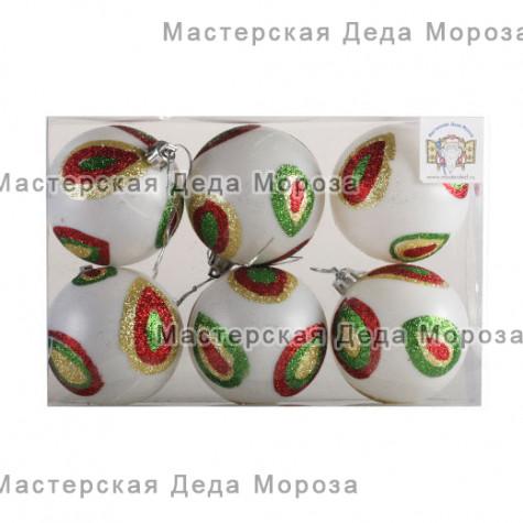 Шары d-7 см цвет прозрачно- матовый (6шт)