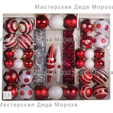 Набор для украшения цвет красный (76 предметов)