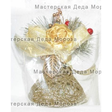 Ёлочные украшения Колокольчик 11см цвет золотой