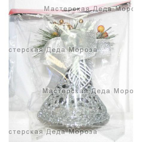 Ёлочные украшения Колокольчик 11 см цвет серебряный
