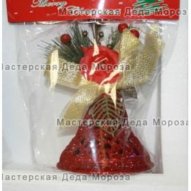 Ёлочные украшения Колокольчик 11 см цвет красный