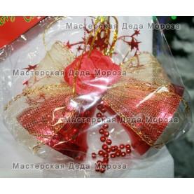 Ёлочные украшения Колокольчики 11см цвет красный