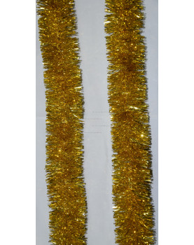 Мишура новогодняя Московская  диаметр 7 см цвет золото