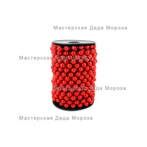 Бусы шарики d=10мм длина 10м цвета: Золото, Серебро, Красный