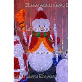 Световая Акриловая Фигура Снеговик с лопатой 170см