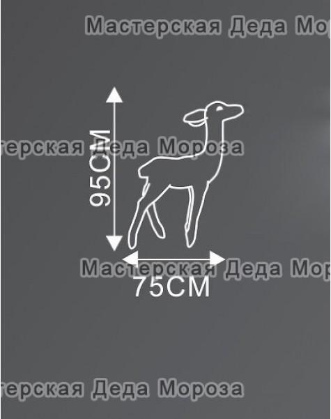 Световая Акриловая Фигура Олень малыш цвет Белый 95см (GSP-182-24V)