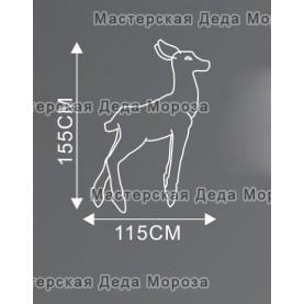 Световая Акриловая Фигура Олень мама цвет белый 155см (GSP-180-24V)