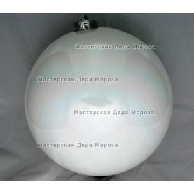 Шар d=15см цвет белый глянцевый