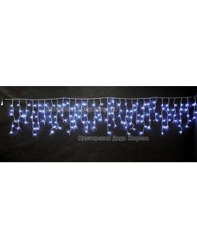 Светодиодная бахрома 3*0.6м 150LED цвет белый, провод прозрачный, IP44, постоянное свечение