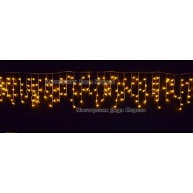 Светодиодная бахрома 3*0,6м 150LED цвет желтый, провод прозрачный