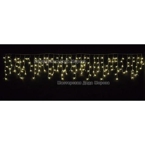 Светодиодная бахрома 3*0.6м 150LED цвет тёплый белый ,провод прозрачный