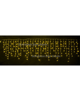 Светодиодная бахрома 3*0,9м МЕРЦАЮЩАЯ цвет желтый IP44