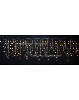 Светодиодная бахрома 3*0.9м МЕРЦАЮЩАЯ цвет теплый белый IP54