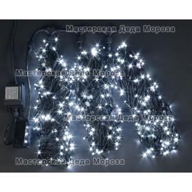 Светодиодная гирлянда Клип Лайт 3 нити по 20м, цвет белый, 24V