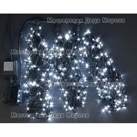 Светодиодная гирлянда Клип Лайт мерцающий 3 нити по 20м, цвет белый, 24V