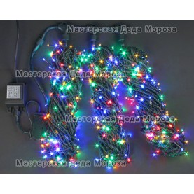 Светодиодная гирлянда Клип Лайт 3 нити по 20м, цвет мульти, 24V