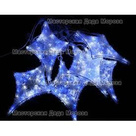 Светодиодная гирлянда Мерцающие звёзды 12шт цвет бело-синий