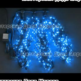Светодиодная гирлянда Клип Лайт 3 нити по 20м, цвет синий, 24V