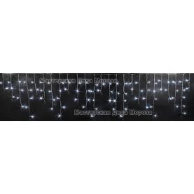 Светодиодная бахрома 3м*0,5м цвет белый, провод черный