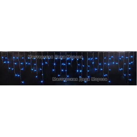 Светодиодная бахрома 3м*0,5м цвет синий, провод черный