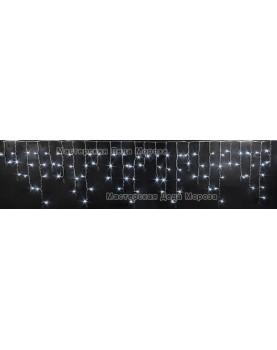 Светодиодная бахрома 3*0.5м цвет белый, провод прозрачный