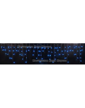 Светодиодная бахрома 3*0.5м цвет синий,провод прозрачный