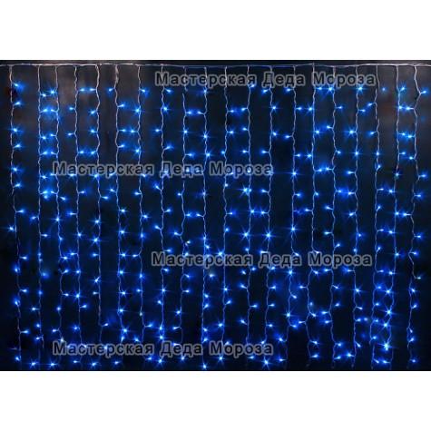 Светодиодный занавес 2*1,5м цвет синий
