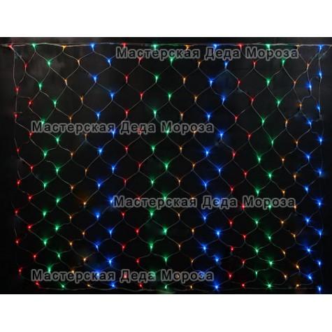 Светодиодная сетка 2*1,5 м цвет мульти
