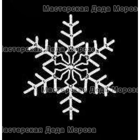 """Светодиодная фигура """"Снежинка"""" 92см цвет белый"""