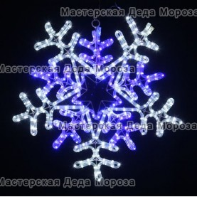 """Светодиодная фигура """"Снежинка"""" 55см цвет бело-синий"""