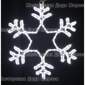 """Светодиодная фигура """"Снежинка"""" 55 см цвет белый"""