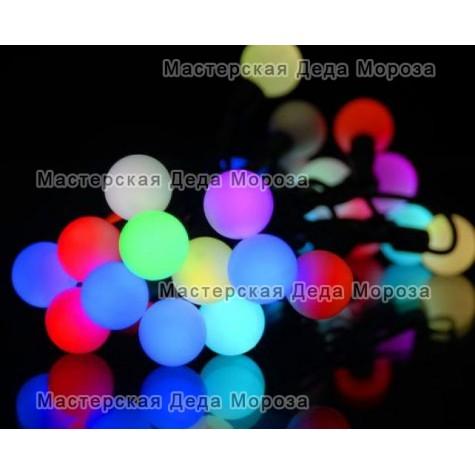 Светодиодная гирлянда Мультишарики d-23мм 10м цвет RGB