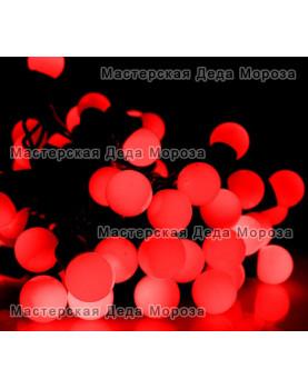 Светодиодная гирлянда Мультишарики d-23мм 10м цвет красный