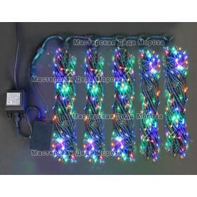 Светодиодная гирлянда Клип Лайт 5 нитей по 20м, цвет мульти, 24V